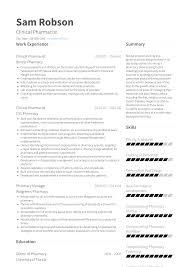Pharmacist Resume Samples And Templates Visualcv