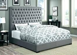grey upholstered bed king. Dark Grey Upholstered Bed Fabric Intended . King
