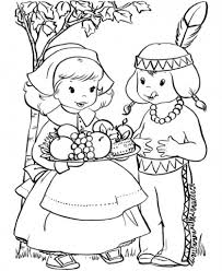 Small Picture Thanksgiving Coloring Pages Printables Pilgrim And Thanksgiving