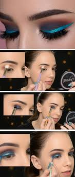 shimmery blue eyeliner 20 easy summer makeup ideas for brown eyes that are totally wearable