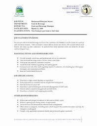 Busboy Job Description Resume 100 Luxury Restaurant Resume Templates Resume Cover Letter Ideas 92