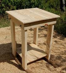 sanded pallet side table and nightstand pallet furniture plans diy pallet end table plans
