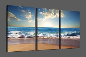 beach canvas wall art bule seascape the beautiful beach view modern canvas wall art for home decoration high quality wall pictures for living room