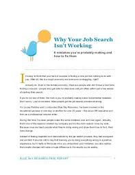 Resumes Search Why Your Job Search Isnt Working Blue Sky Resumes