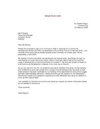 Sample Cover Letter For A Resume Tjfs Journal Org