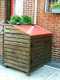 trash can screen how to hide your outdoor garbage cans designs plants lattice enclosure tras