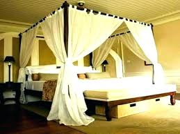 Bed Drapes Enlarge Billowing Bed Curtains Four Poster Bed Drapes Uk ...