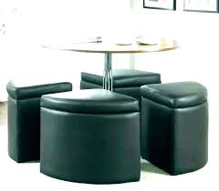 round coffee table with seats underneath nesting
