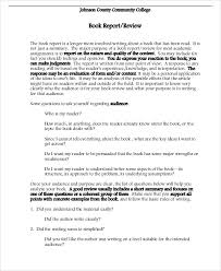 book reports sample example format  college book report format