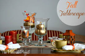 Fall Table Scapes Fall Tablescape With Martha Stewart Crafts The Pinterest Project