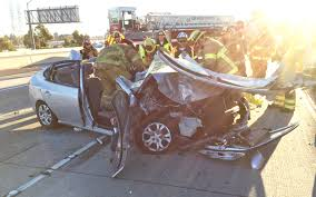 a three car crash on the garden grove freeway thursday morning left one man dead and three injured ggfd photo