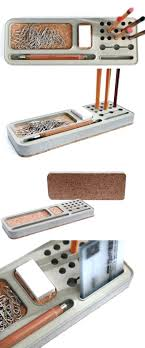 cool office gear. Cool Office Gear Concrete Smartphone Pen Pencil Holder Stand Desk Organizer Tray A R