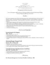 Management & Sales Executive Resume Example
