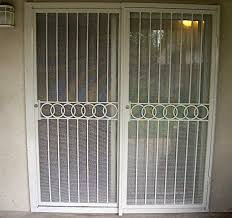 sliding patio door security gate residential steel doors home in how to secure a plan 13