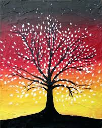 tree of life canvas tree of life abstract painting wall art sculpture woodland tree of life cherry orange blossom paintings on canvas hanging original large