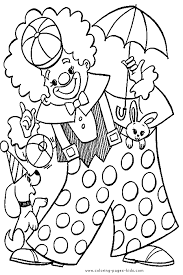 Small Picture Drawn clown coloring book Pencil and in color drawn clown