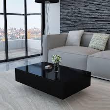 coffee tea table modern living room furniture home office high gloss black white