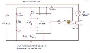 flasher circuit diagram using ne 555 ic for lamp 12 Volt Flasher Circuit Diagram flashing circuit diagram & parts list lamp flasher12 jpg 12 volt led flasher circuit diagram