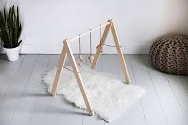 diy wooden baby gym themerrythought
