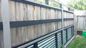 metal privacy fence corrugated metal and wood