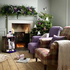 christmas living room decorating ideas. Christmas Living Room Country Purple Decorating Idea Ideas