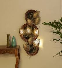 gold metal decorative with led wall art