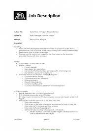 Fresh Duty Manager Job Description Retail Sales Resume Retail Sales