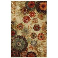 caravan medallion multi 6 ft x 9 ft indoor area rug