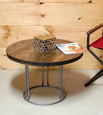 best reclaimed wood round coffee table