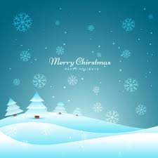 Snowy Christmas background Vector | Free Download