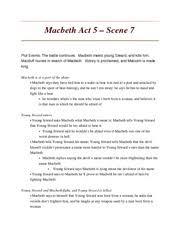 macbeth summary act lindsey wheeler mrs p west english iv 5 pages macbeth act 5 scene 7