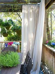 Drapery Panels - Smart Privacy Solutions for Outdoor Spaces on HGTV  Weatherproof, ready-made drapery panels are a quick and easy privacy  solution to make an ...