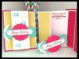 Folded Birthday Card Simply Simple Fancy Fold Birthday Card By Connie Stewart