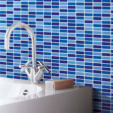 kitchen backsplash glass tile blue. crystal glass tile brick strip kitchen backsplash tiles bathroom wall sticker blue mosaic 103 s