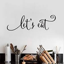 Kitchen Quotes Extraordinary Amazon Let's Eat Kitchen Quotes Wall Decal Dining Room Wall