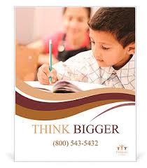 School Poster Designs School Boy Is Writing Poster Template Design Id 0000009503
