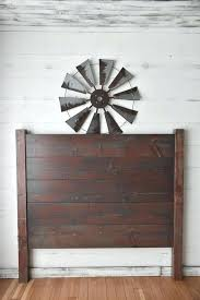 shiplap headboard king diy