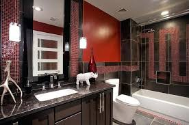 Image Decor Ideas Gray And Red Bathroom Red Bathroom Color Ideas View In Gallery Black Granite And Porcelain Tiles Enliven Gray And Red Bathroom Rugs Rhodecoders Bathroom Decor Gray And Red Bathroom Red Bathroom Color Ideas View In Gallery Black