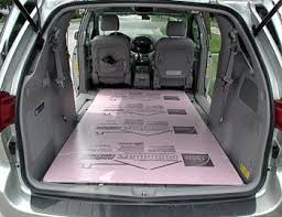 toyota sienna interior seats removed allow 4 x 8 sheet minivan to cer conversion merements