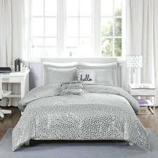 grey bedding set intelligent design metallic triangle print 5 piece comforter 3 color option sets sainsburys