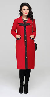 894 plus size women elegant coat ons classic promptness of red and black