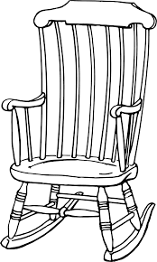 rocking chair clipart. Rocking Chair 741. # Clipart O