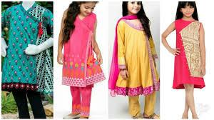 Baby Kurti Design 2019 New Beautiful Angrakha Cotton Kurti Designs For Baby Girls Angrakha Designs Collection For Girl