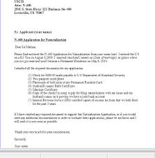 Sample Of My Cover Letter For N400 Us Citizenship Cover Letter For