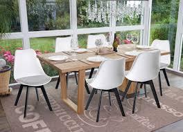6x Esszimmerstuhl Hwc E53 Stuhl Küchenstuhl Retro Design Weißgrau Stoff Schwarze Beine
