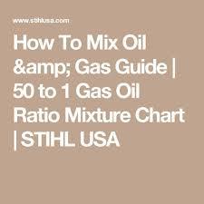 50 To 1 Gas Oil Mixture Chart Pinterest