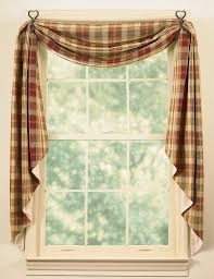 Red Swag Kitchen Curtains Shop Amazoncom Window Swags