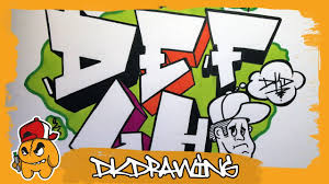 Simple Graffiti Alphabet - How to draw graffiti letters D to H