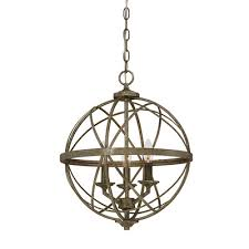 tokai 3 light globe chandelier finish antique silver by wayfair