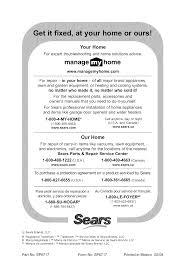 Sears Canada Appliance Repair Wwwmanagemyhomecom 800 4 My Home 888 Su Hogar Craftsman